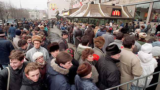 McDonald's first in Russia